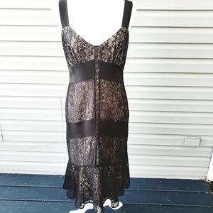 LOFT black lace cocktail dress semi formal Sz8